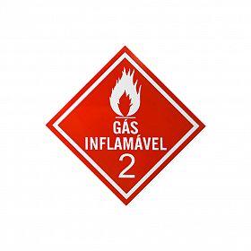 Placa gás inflamável 2 de PVC 30 x 30cm