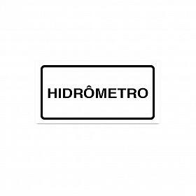 Placa hidrômetro de PVC 7 x 3,5cm