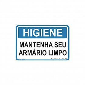 Placa higiene mantenha seu armário limpo de PVC 35 x 25cm