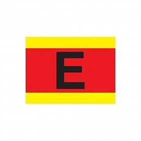 Placa letra (E) para extintor em coluna de PVC 40 x 30cm