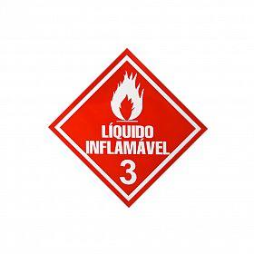 Placa líquido inflamável 3 de PVC 30 x 30cm