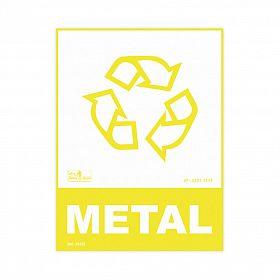 Placa lixo reciclável metal de PVC 15 x 20cm