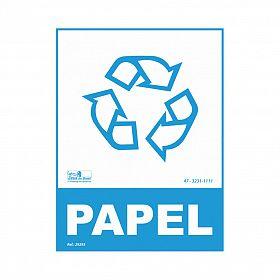 Placa lixo reciclável papel de PVC 15 x 20cm