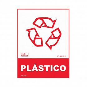 Placa lixo reciclável plástico de PVC 15 x 20cm