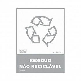 Placa lixo reciclável resíduo não reciclável de PVC 15 x 20cm