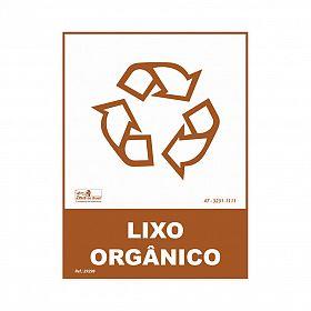 Placa lixo reciclável resíduo orgânico de PVC 15 x 20cm