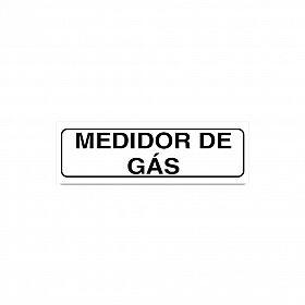 Placa medidor de gás de PVC 19 x 6cm