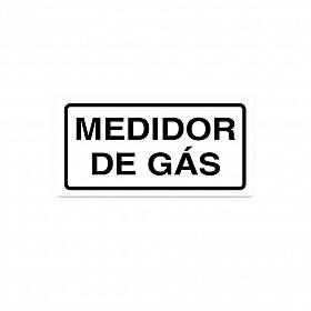 Placa medidor de gás de PVC 7 x 3,5cm