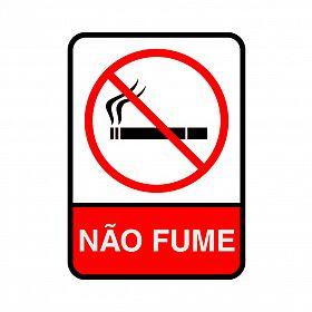 Placa não fume de PVC 15 x 20cm