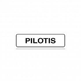 Placa pilotis de PVC 19 x 6cm