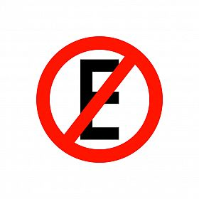 Placa proibido estacionar de PVC 40 x 40cm