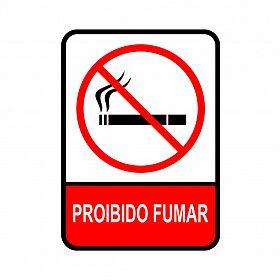 Placa proibido fumar de PVC 15 x 20cm