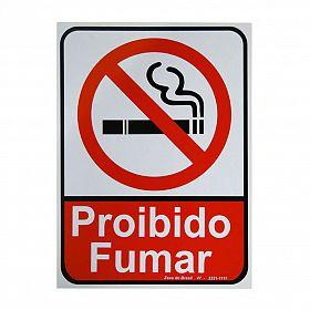 Placa proibido fumar de PVC 24 x 33cm