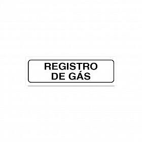 Placa registro de gás de PVC 19 x 6cm