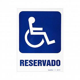 Placa reservado para deficientes de PVC 23,5 x 32,5cm