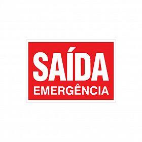 Placa saída emergência de PVC 29 x 20cm