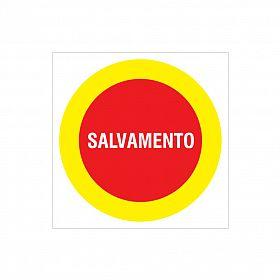 Placa salvamento de PVC 26,5 x 26,5cm