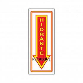 Placa seta hidrante recalque de PVC 15 x 37,5cm