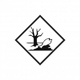 Placa substância perigosa para meio ambiente de PVC 30 x 30cm