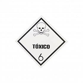 Placa tóxico 6 de PVC 30 x 30cm