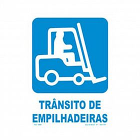 Placa trânsito de empilhadeiras de PVC 23,5 x 32,5cm