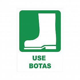 Placa use botas de PVC 23,5 x 32,5cm