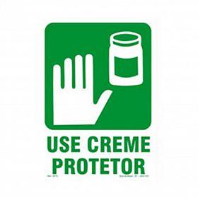 Placa use creme protetor de PVC 23,5 x 32,5cm