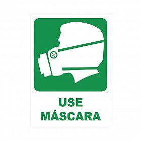 Placa use máscara de PVC 23,5 x 32,5cm