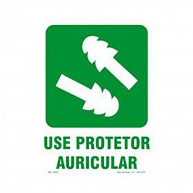Placa use protetor auricular de PVC 23,5 x 32,5cm