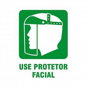 Placa use protetor facial de PVC 23,5 x 32,5cm