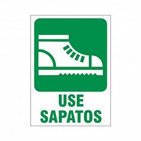 Placa use sapatos de PVC 23,5 x 32,5cm