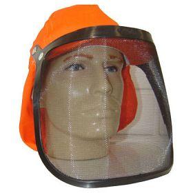 Protetor facial tipo tela nylon 20cm com boné