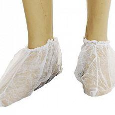 Sapatilha descartável branca / com elástico / pct com 10 pares