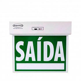 Sinalização Saída STANDARD Dupla Face verde com seletor e adesivo