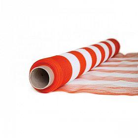 Tela laranja/branca monofilada (tapume) 1,20 x 50m