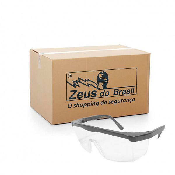 Óculos proteção Imperial com lente incolor policarbonato - Caixa com 50 unidades