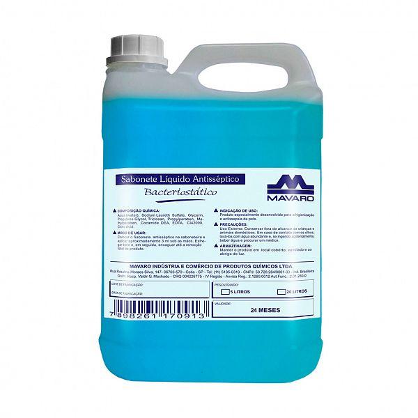 Sabonete Líquido Antiséptico Bacteriostático 5L - Mavaro